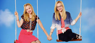 Liv and Maddie fond d'écran with a balançoire, swing titled liv