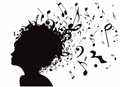 music note and people vector 550935 - music fan art