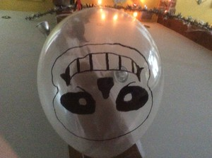 sans balloon for Halloween.