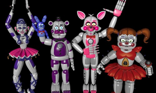 Five Nights at Freddy's wallpaper entitled sister location characters da funtime mangle dahetb2