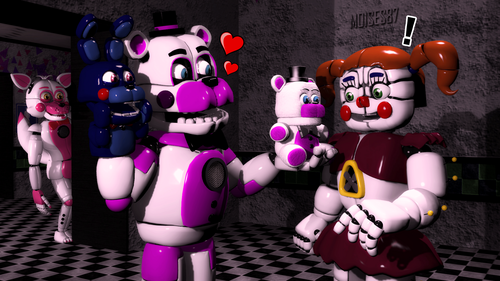 Five Nights at Freddy's achtergrond entitled special gift funtime freddy x baby door moises87 dabnjvy