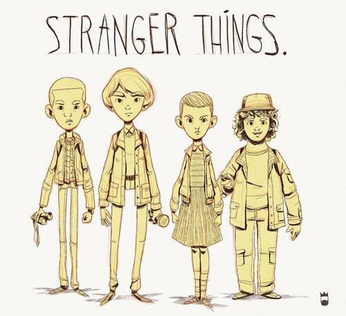 Stranger Things 壁紙 containing アニメ called stranger things