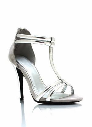 strappy contrast open toe heels