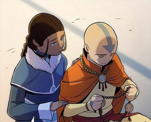 Avatar le dernier maître de l'air fond d'écran probably with animé titled the Rift -Aang and Katara