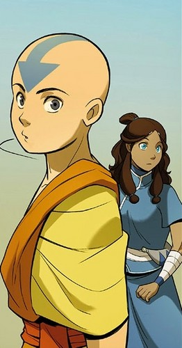 Avatar: The Last Airbender achtergrond with anime entitled the Rift -Aang and Katara