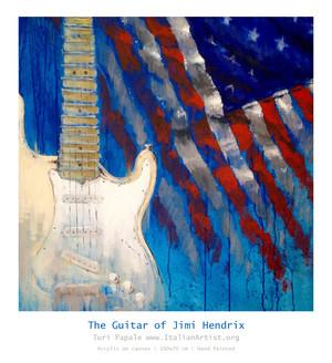 the guitare of Jimi Hendrix