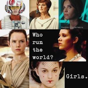 the ladies of Star Wars