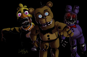 withered animaronics fnaf 2 por ladyfiszi d9f1f7h