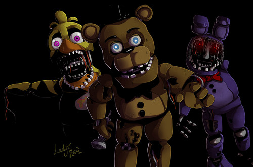 Five Nights at Freddy's 壁紙 titled withered animaronics fnaf 2 によって ladyfiszi d9f1f7h