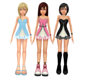 .Kingdom Hearts Kairi  Namine  and Xion Dress Rose  Kazuki9484 Kohaku Ume HakuMizuki Chyaari