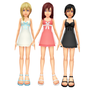 .Kingdom Hearts Kairi Namine and Xion New Dress Sorasprincesss and Kazuki9484