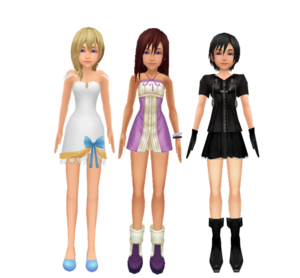 .Kingdom Hearts Kairi Namine and Xion New Style Dress Sorasprincesss