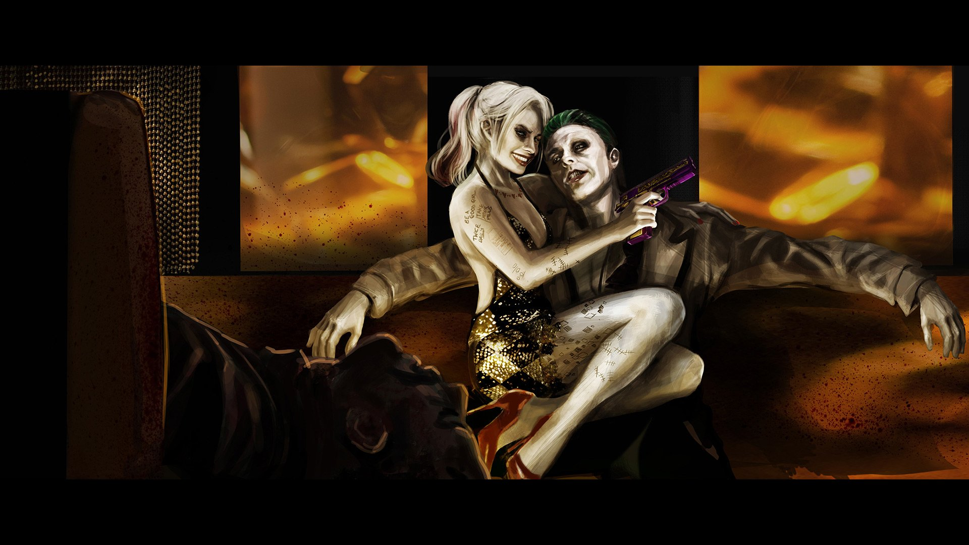 'Suicide Squad' Concept Art ~ Harley Quinn and The Joker
