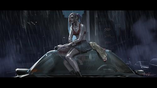 Suicide Squad fondo de pantalla with a fuente entitled 'Suicide Squad' Concept Art ~ Harley Quinn