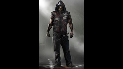 Suicide Squad 바탕화면 possibly containing a well dressed person, long trousers, and an outerwear called 'Suicide Squad' Concept Art ~ Killer Croc