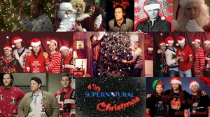 spn Christmas collage