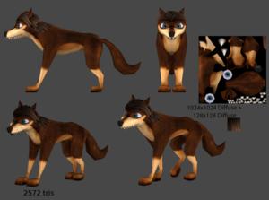 3d 狼 model