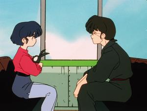 Akane Tendo, Dr. Tofu, and P-chan