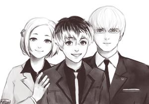 Akira,Kaneki/Sasaki and Arima