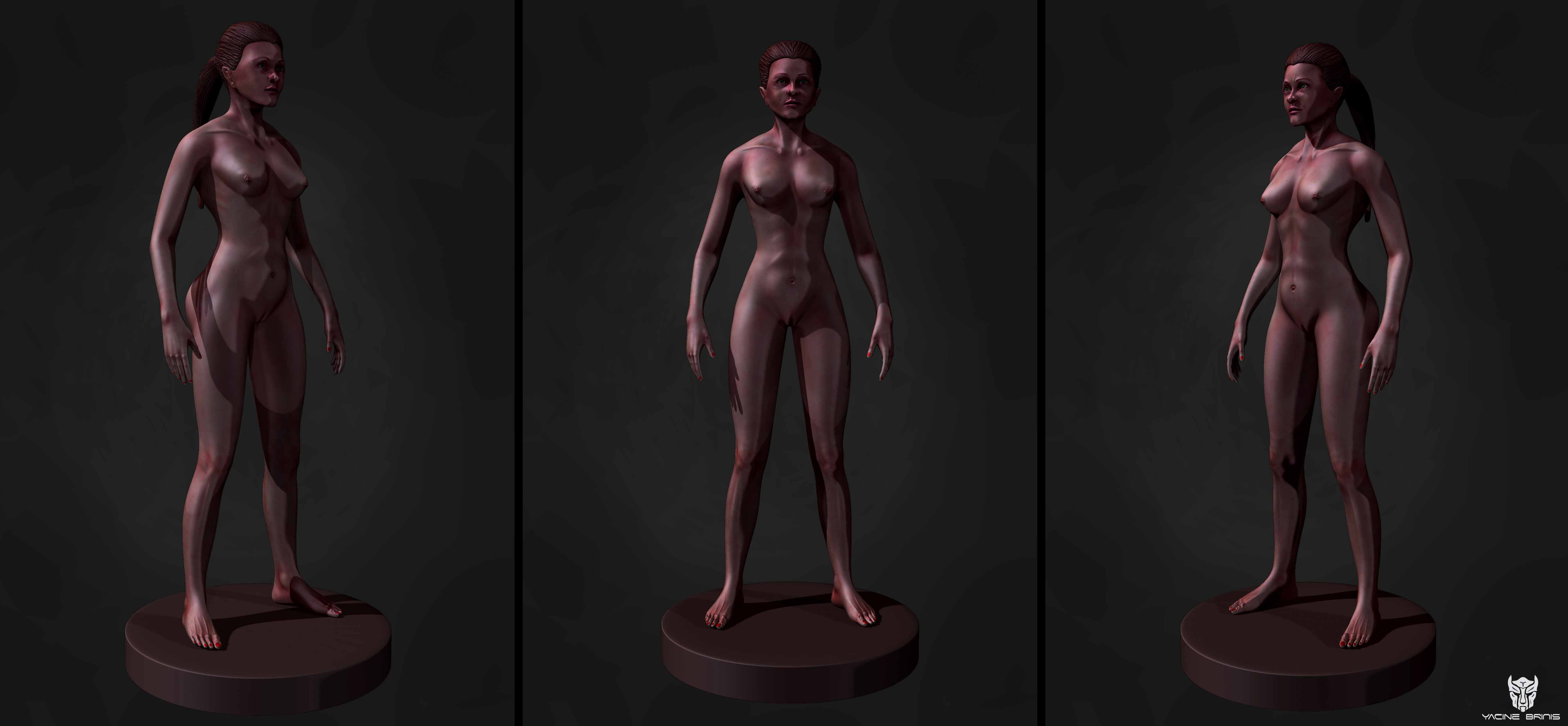 YacineBRINIS images All the renders Final Image 3D Female Anatomy By ...