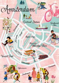 Amsterdam Map Art.