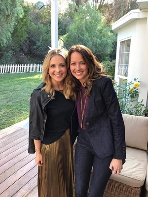 Amy Acker and Sarah Michelle Gellar