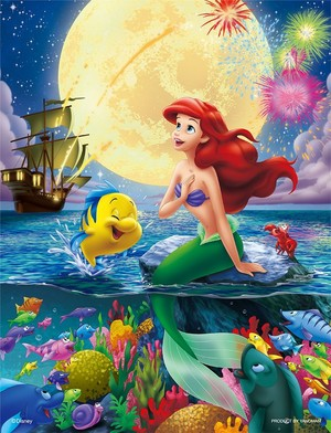 Walt disney imagens - Flounder, Princess Ariel & Sebastian