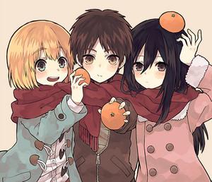 Armin, Eren and Mikasa // Shingeki no Kyojin