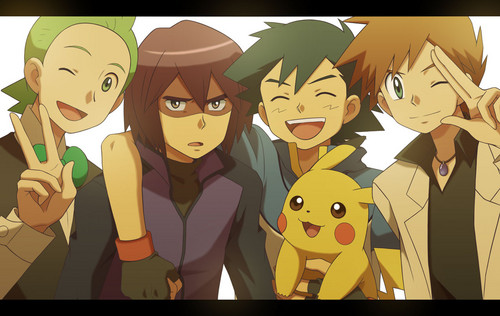 Pokemon Guys fond d'écran possibly containing animé entitled Ash with rivals