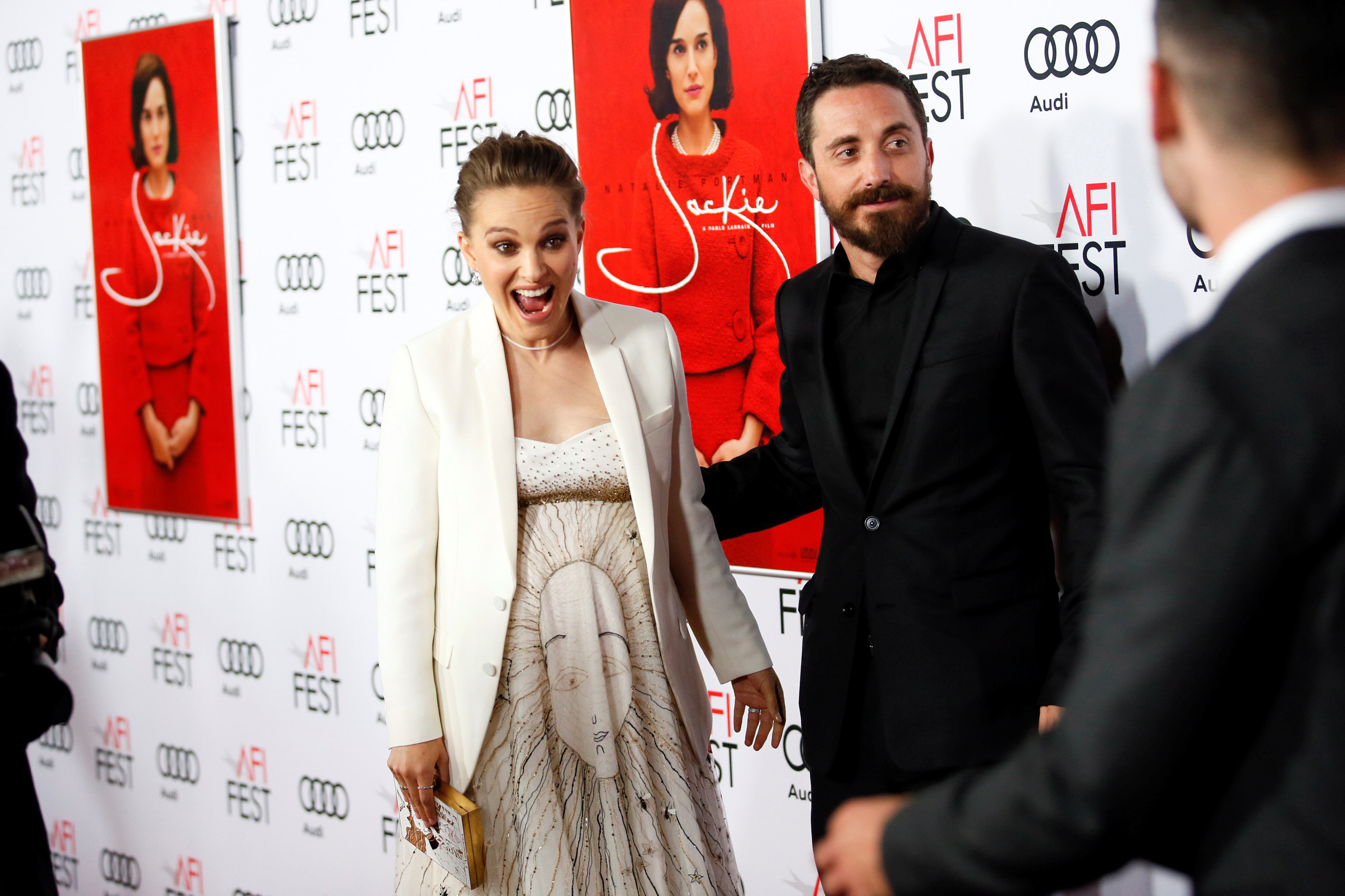 Attending the premiere of 'Jackie' during the American Film Institute (AFI) Festival in Hollywoo