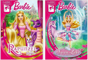 Barbie Rapunzel & سوان, ہنس Lake new covers
