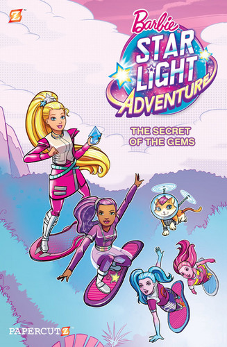 Sinema za Barbie karatasi la kupamba ukuta called Barbie nyota Light Adventure The Secret of the Gems