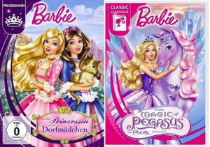 barbie The Princess & The Pauper & The Magic of Pegasus new covers