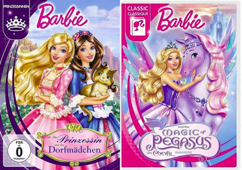 Barbie films achtergrond with anime titled Barbie The Princess & The Pauper & The Magic of Pegasus new covers