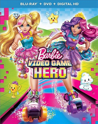 Barbie films achtergrond titled Barbie Video Game Hero Blu-ray cover