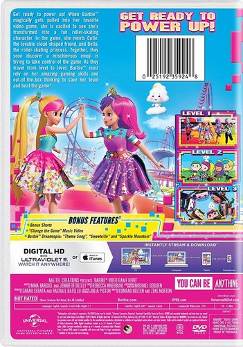 filmes de barbie wallpaper called Barbie: Video Game Hero back cover