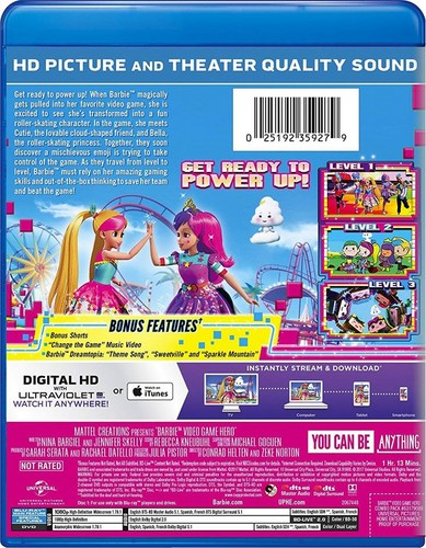 Barbie Movies wallpaper titled Barbie: Video Game Hero back cover blue-ray