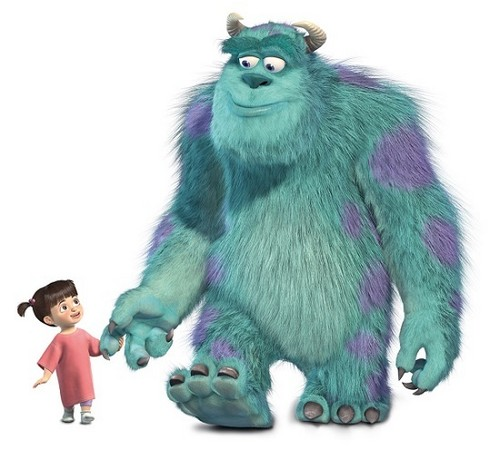 Childhood Animated Movie Characters fond d'écran entitled Boo and Sully
