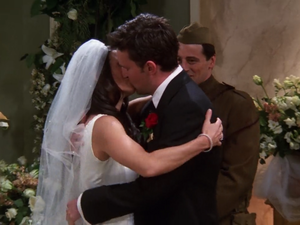 Chandler and Monica's wedding