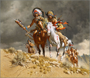 Cheyenne War Party by Frank C. McCarthy