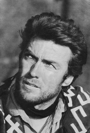 Clint Eastwood on the set of A Fistful of Dollars