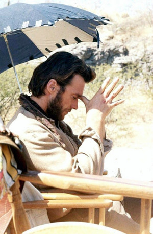Clint Eastwood on the set of Two Mules for Sister Sara 1969