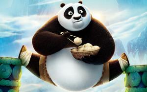 Cute Kung Fu Panda 3 Обои