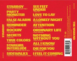 Full tracklist for The Weeknd's 'Starboy'