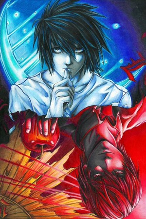 DEATH NOTE L and Kira