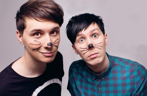 danisnotonfire wallpaper with a portrait called Dan and Phil