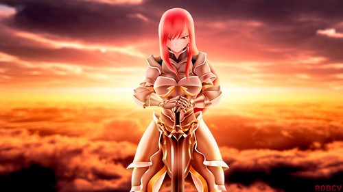 Fairy Tail پیپر وال titled ERZA