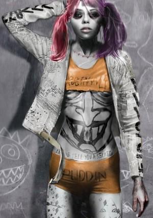 Early Harley Quinn Concept Art