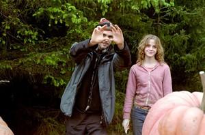 Emma Watson behind the scenes of POA
