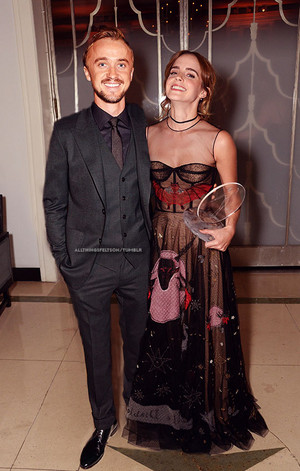 Emma with HP co-star Tom Felton